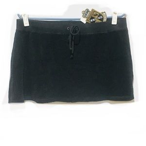 NWT Juicy Couture Black Terry Skirt